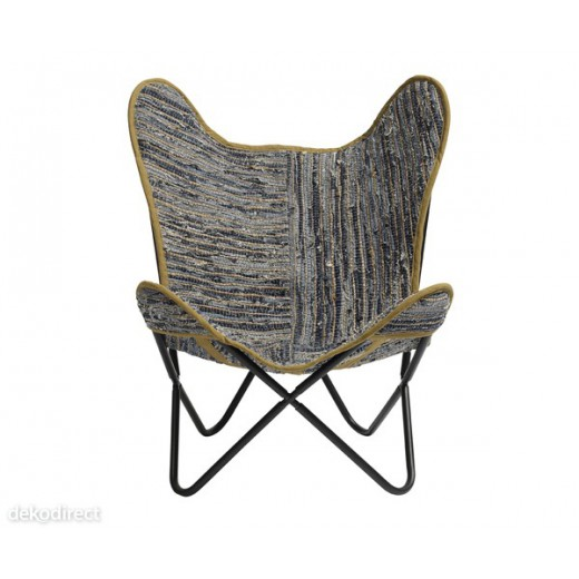 Silla Butterfly Tela patchwork vaquera