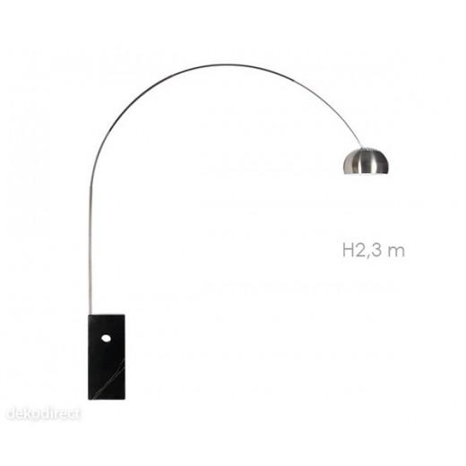 Lámpara Arco de Castiglioni negra