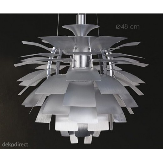 Lámpara Artichoke 48cm Plateada