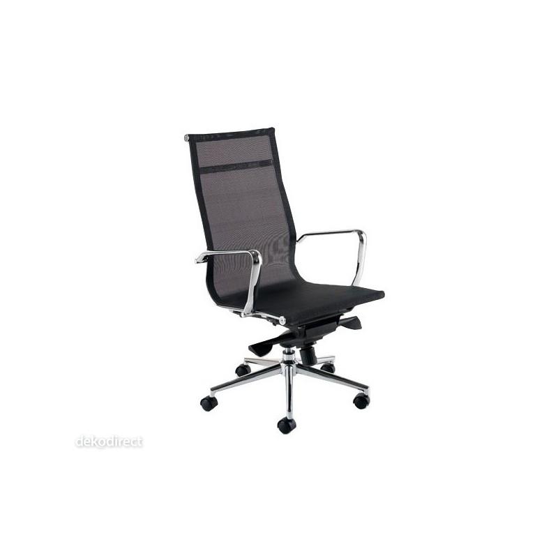 Silla oficina malla a blanca aluminium 119 eames for Sillas de oficina altas