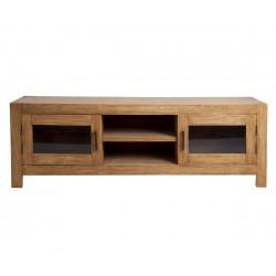 Mueble consol television madera natural Etta