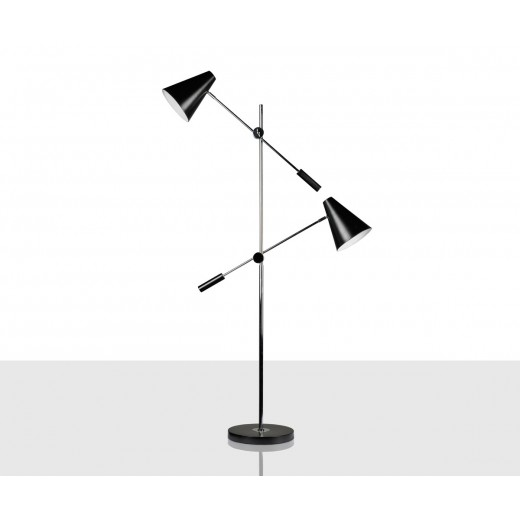 Lámpara de pie Turín negra