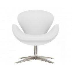 Sillón Swan de Jacobsen similpiel Blanco