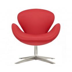 Sillón Swan de Jacobsen tapizado en rojo