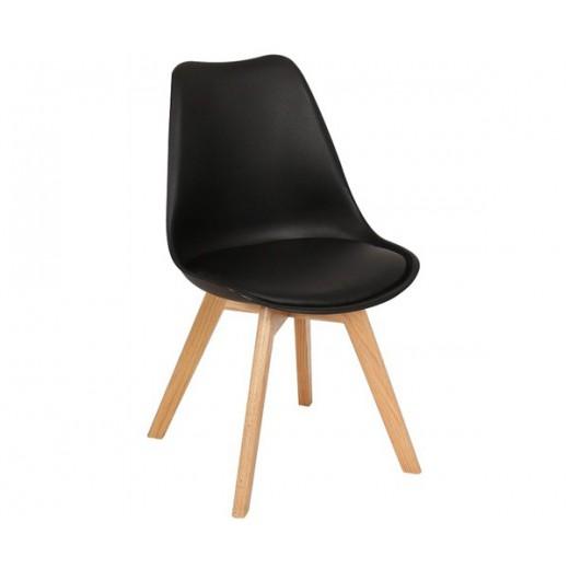 Silla Wood negra