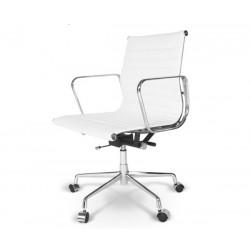 Silla oficina Premium -117 baja, Aluminium Eames blanca