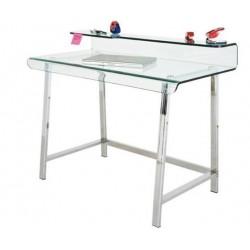 Mesa de escritorio cristal e inox ASTER