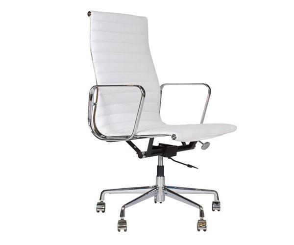 Silla oficina premium 119 alta aluminium eames blanca - Sillones escritorios oficina ...