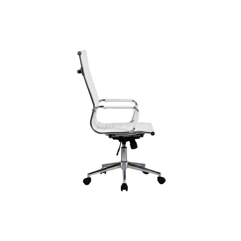 Silla oficina premium 119 alta aluminium eames blanca - Silla oficina alta ...
