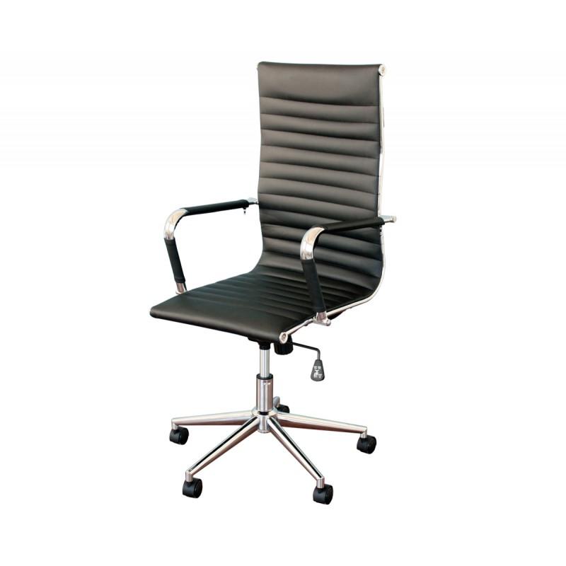 Silla aluminium 119 eames negra for Costo de sillas para oficina
