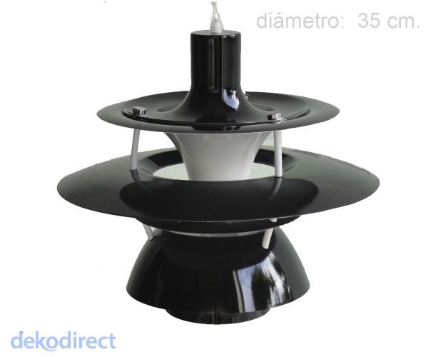 Lámpara Kepler negra