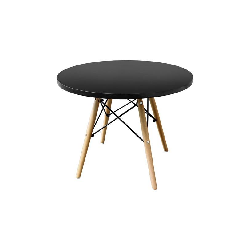 Mesas auxiliares redondas mesas de cocina ikea mesas - Mesa negra ikea ...