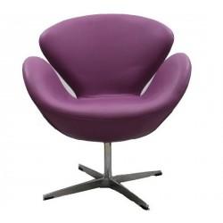 Sillón Swan de Jacobsen púrpura Serie B