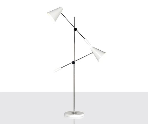 lampara de pie estilo Jacobsen
