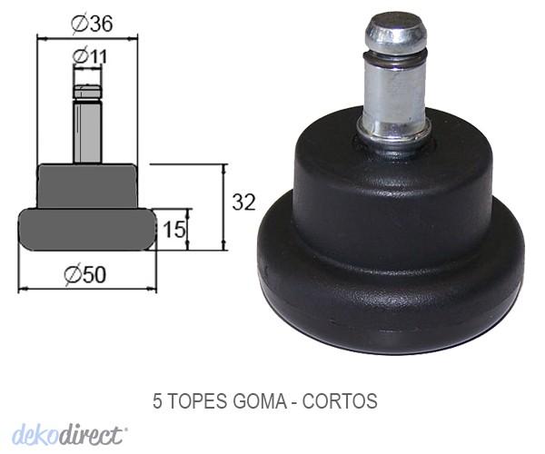 Topes SIN RUEDAS ( set 5 ) para Silla oficina Eames aluminium