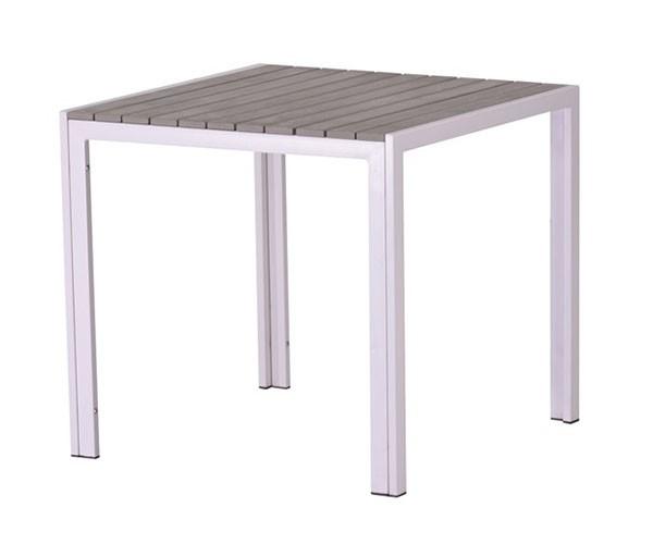 Mesa de jardín cuadrada madera gris South beach
