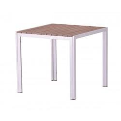 Mesa de jardín cuadrada madera South beach