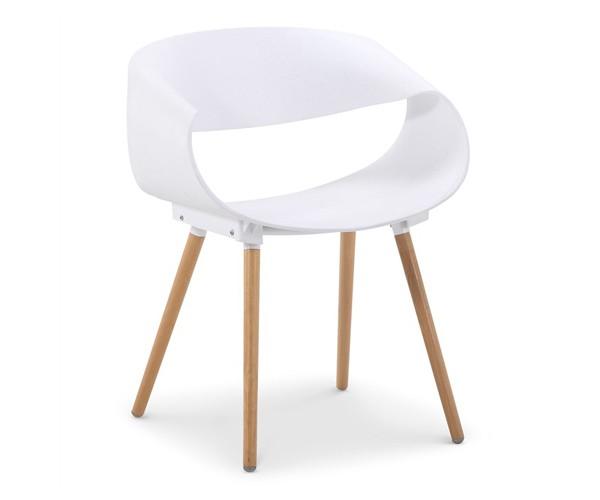 Silla de diseño Bossek blanca