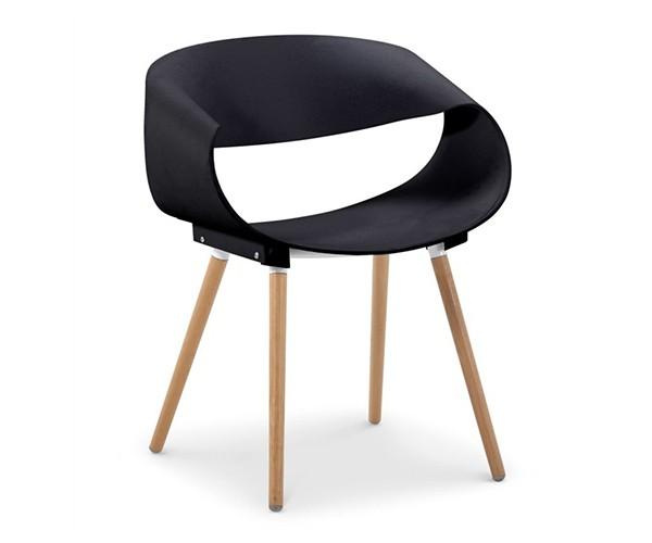 Silla de diseño Bossek negra