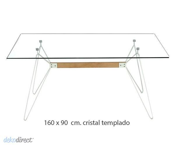 Mesa comedor/oficina cristal Kennedy