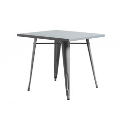 Mesa Tolix acero 80x80 gris plata