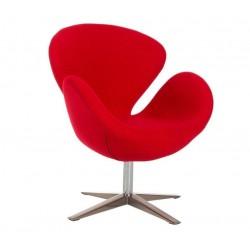 sillón Swan de Jacobsen Cachemir rojo