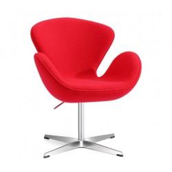 Sillón Swan tejido rojo
