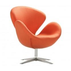 Sillón Swan de Jacobsen cachemir naranja