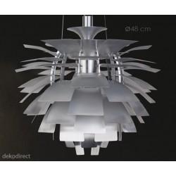 Lámpara Artichoke 70cm Plateada